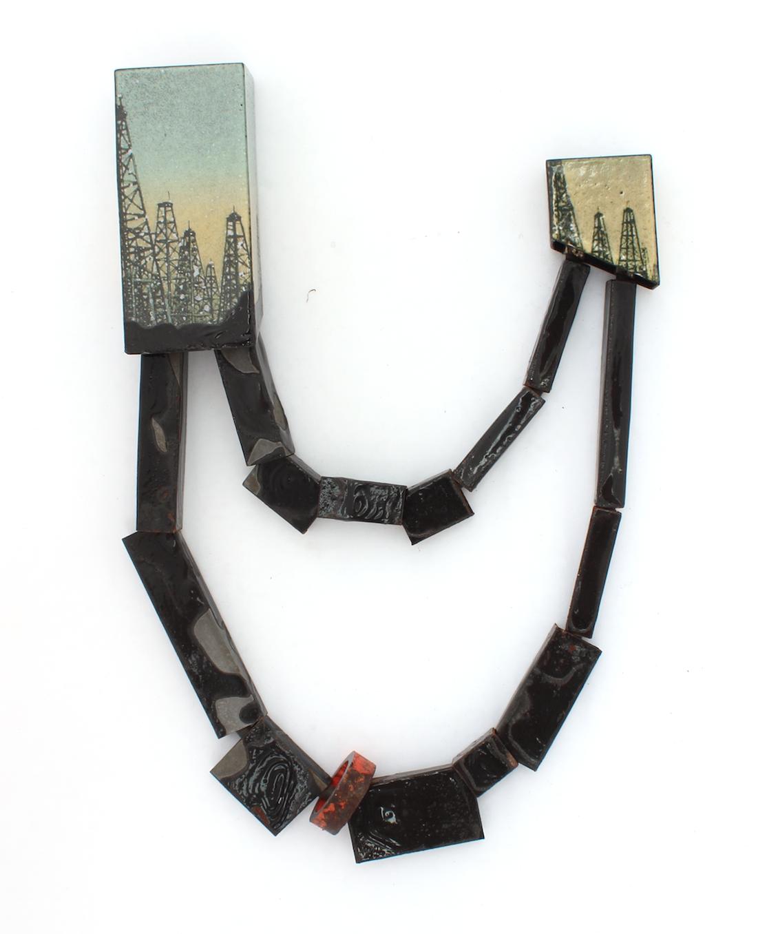 Oil & Water   2015 steel, enamel, rubber, found object