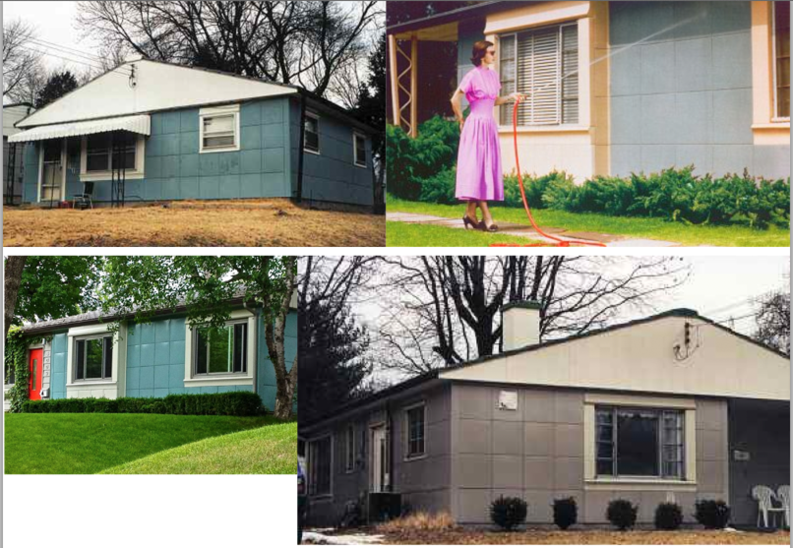 Lustron Homes steel and enamel manufactured homes post WW II