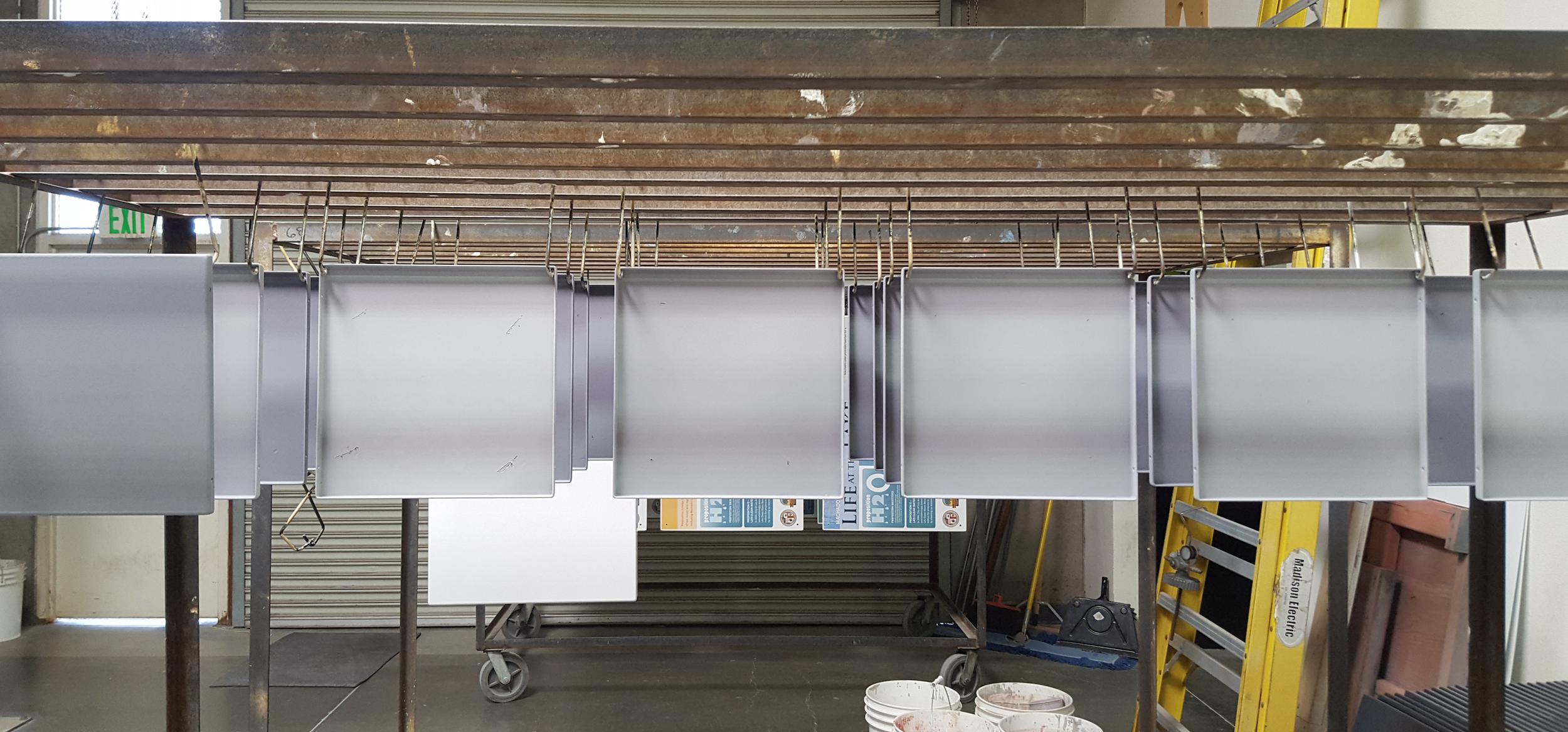 Grey panels