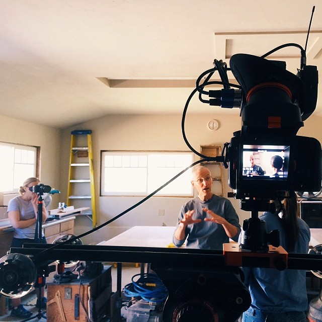 On location shooting a new #documentary. New gear: #QV1 viewfinder, Kamerar #SD1 slider and #mogopod all from @pncgear