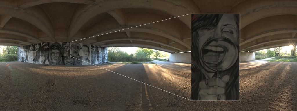 """Zoom detail in panorama """"Windsor Bridge 0001""""."""
