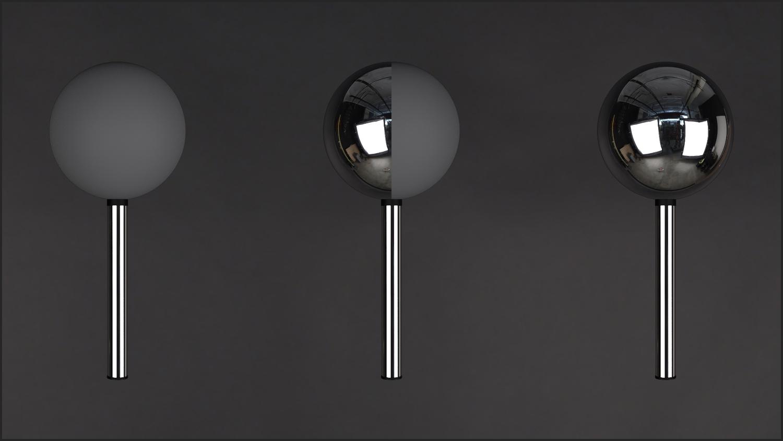 "Lighting checker ""Mono"" stainless steel."