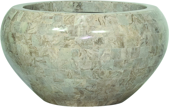 Geo crown - cappuccino marble