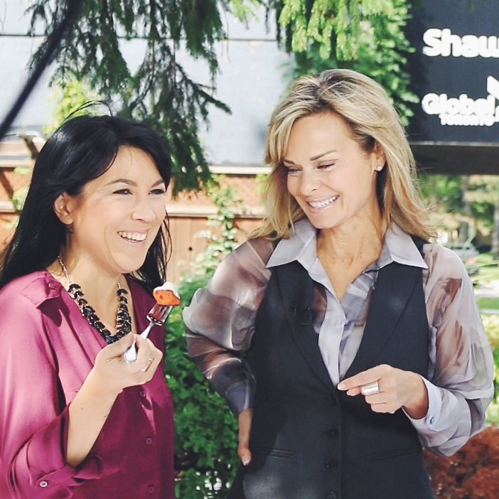 Lauren Toyota of hot for food on Global News with Susan Hay