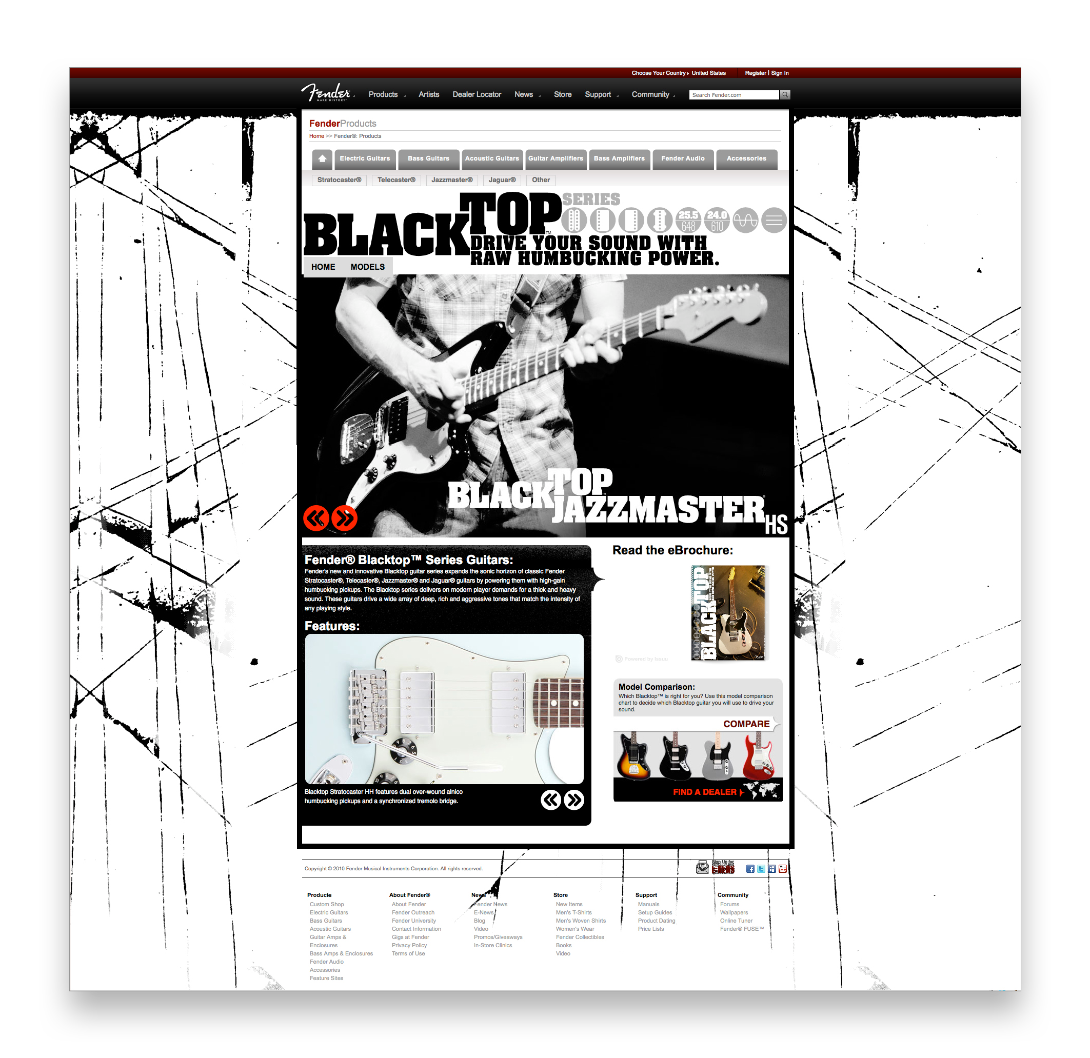 Branding elements were carried over to the Blacktop web presence as well.