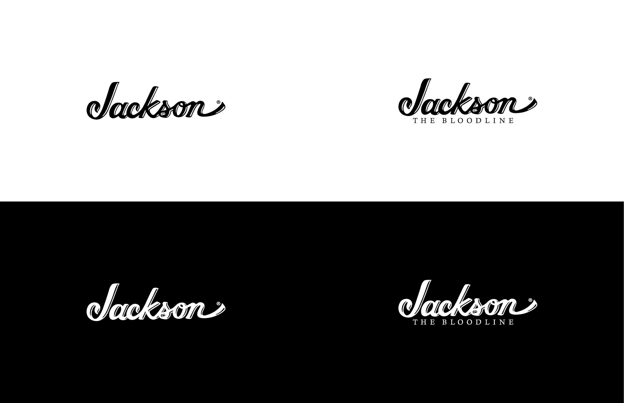 """Existing logo on the left, """"Bloodline"""" version created for the campaign."""