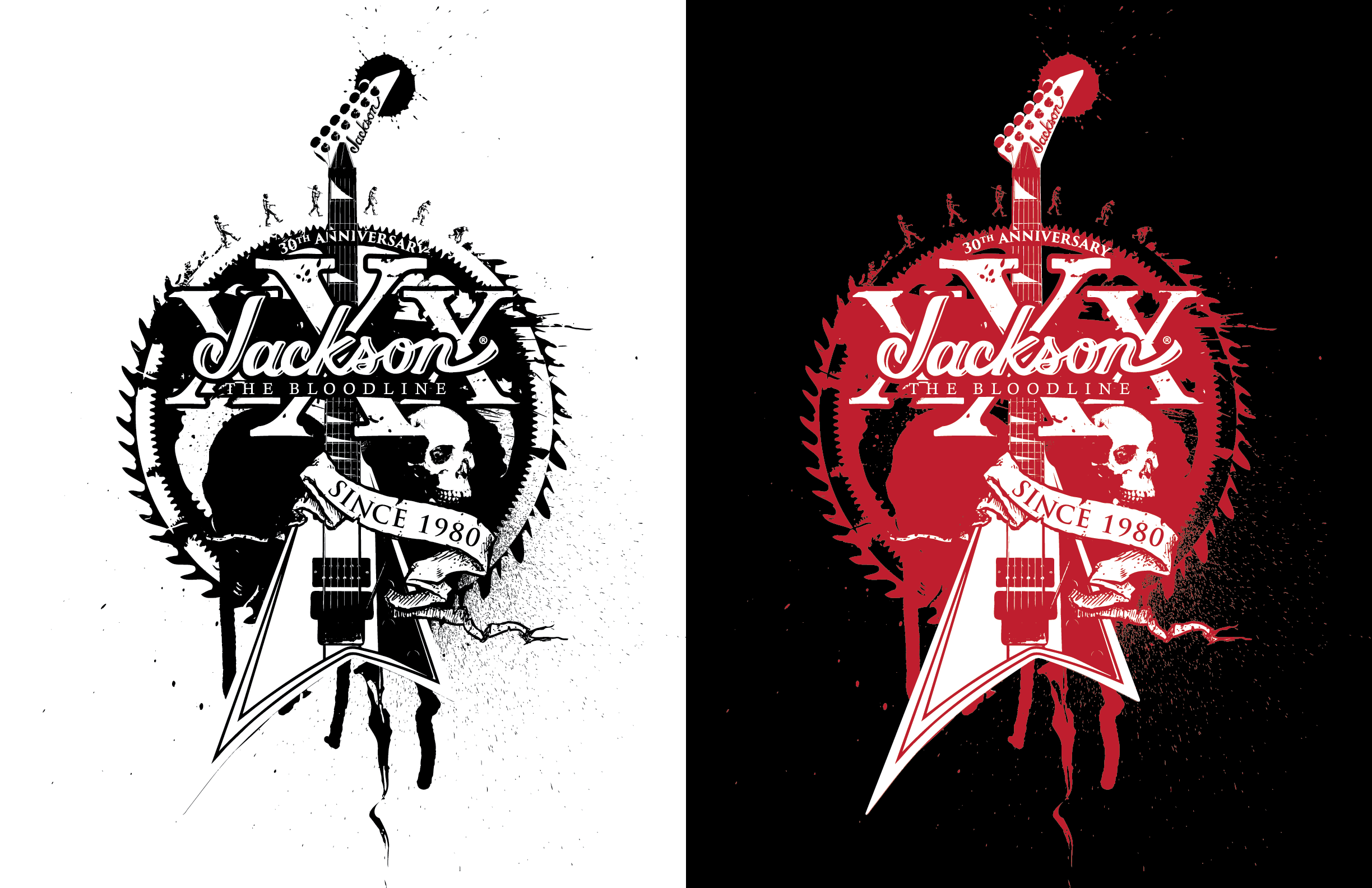 The 30th anniversary logo element was used to create these illustrations.