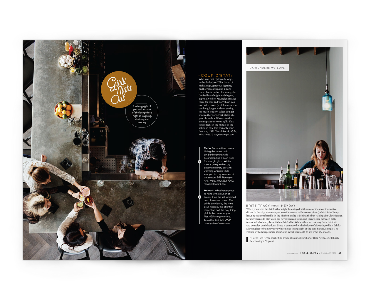 Creative Direction + Design: Liz Gardner for Mpls. St.Paul magazine Editor: Stephanie March Photos:  Eliesa Johnson