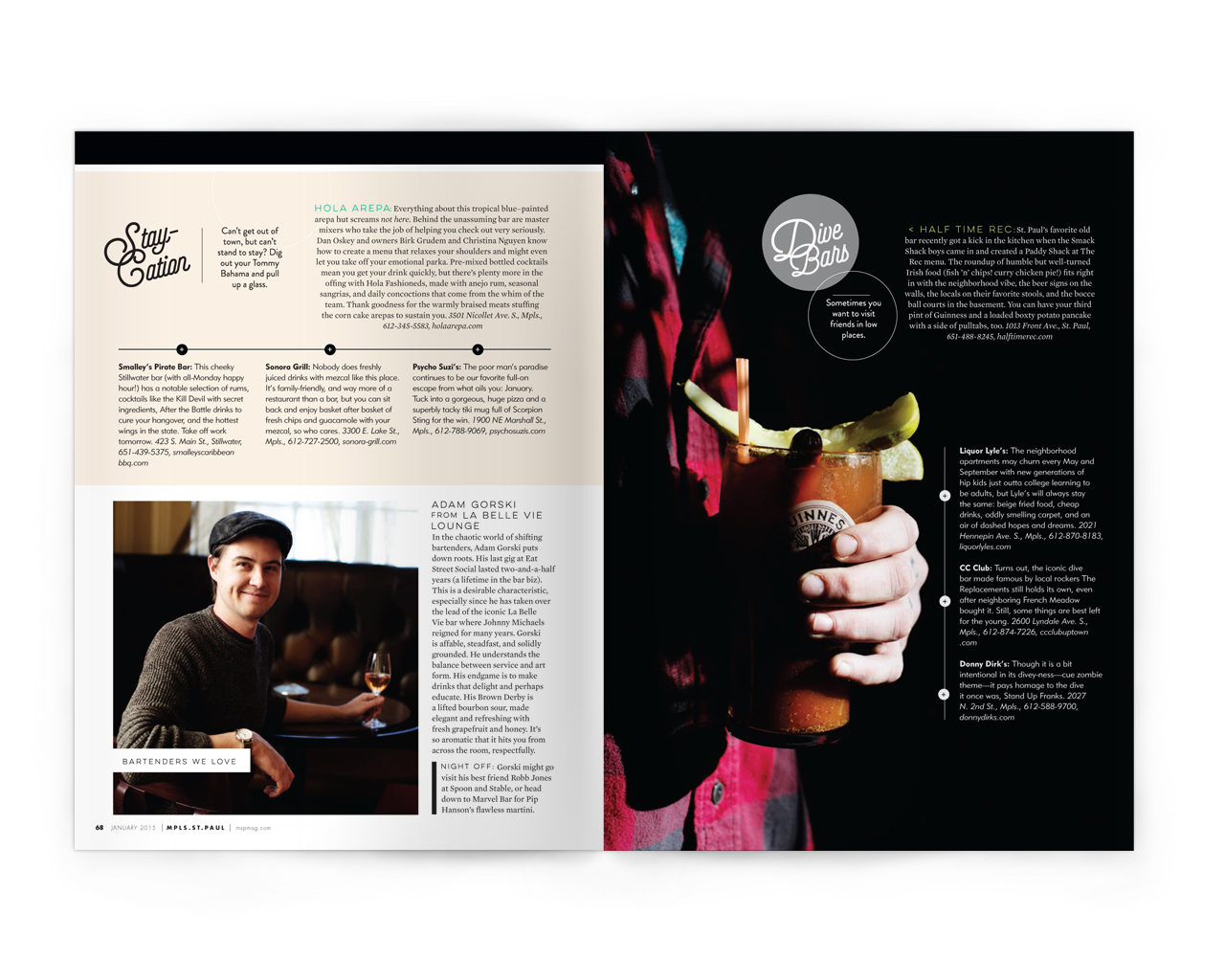 Creative Direction + Design: Liz Gardner for Mpls. St.Paul magazine Editor: Stephanie March Photos: Eliesa Johnson