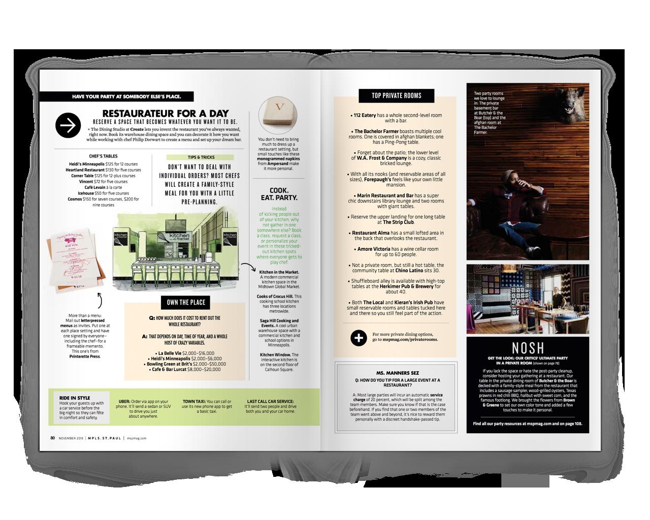 Creative Direction + Design: Liz Gardner for Mpls. St.Paul magazine Editor: Stephanie March Photos:  Eliesa Johnson  Illustrations: Randall Nelson