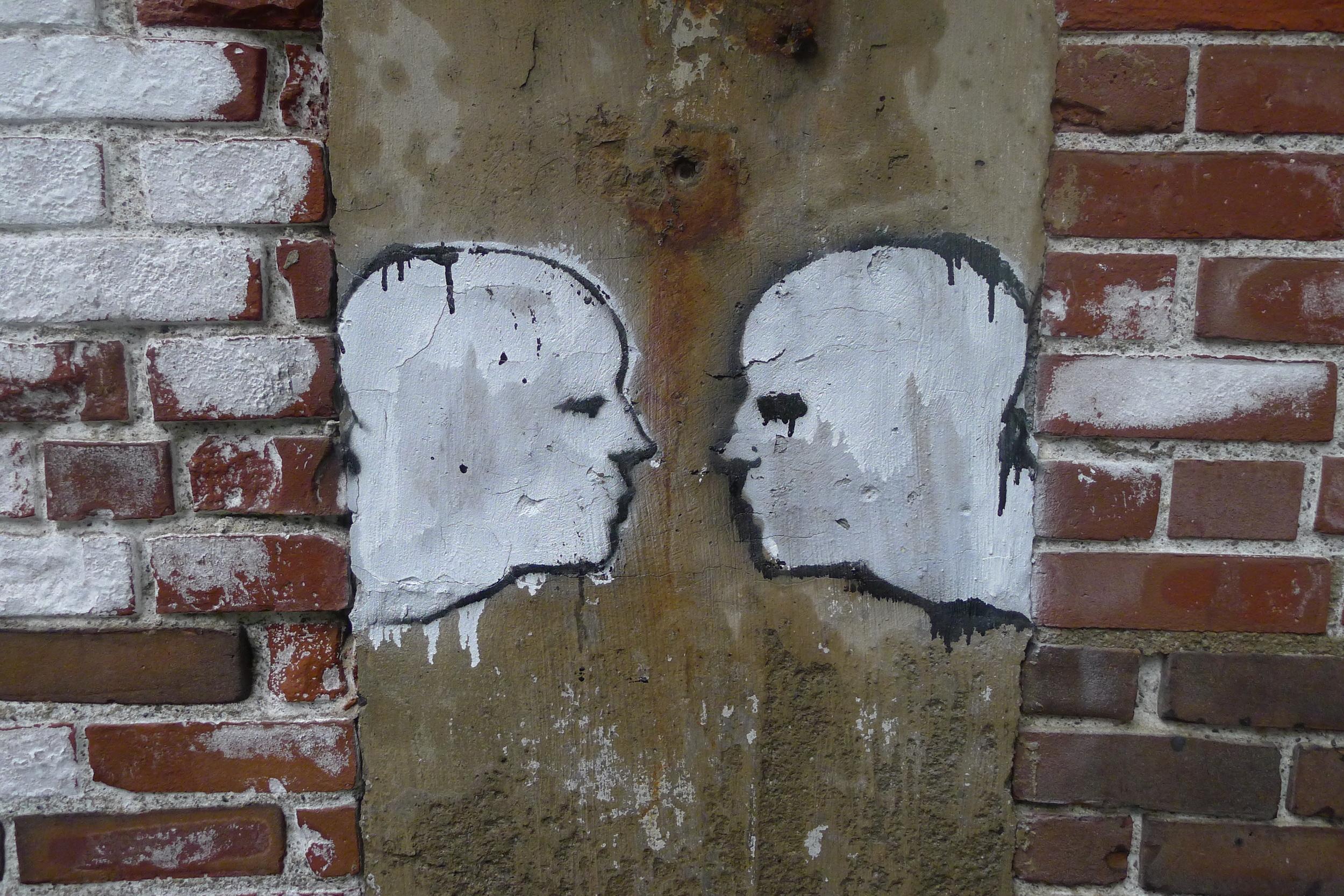 Sleep Will Come II (The Kiss), spray paint