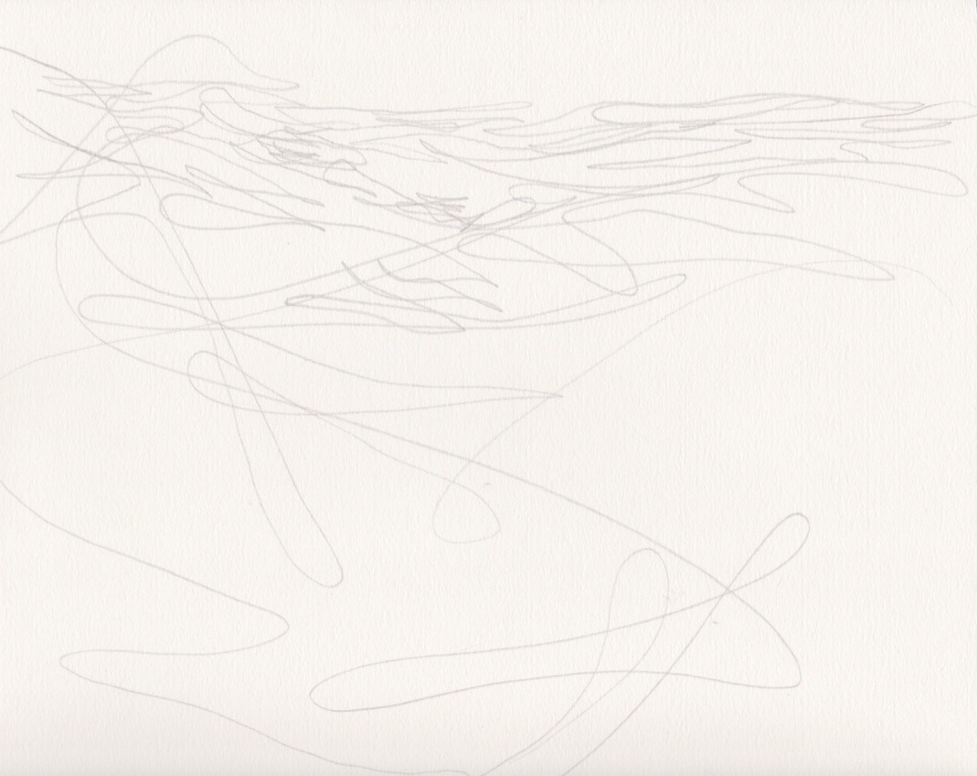 """Linescape: Series 1, Drawing 22"" – 11x15in"