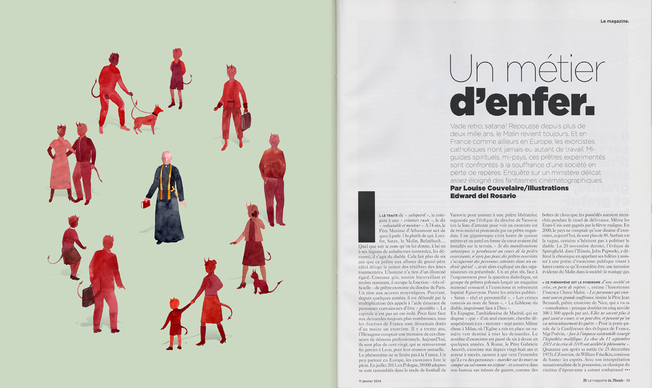 Illustration for   Le Monde  , January 2014