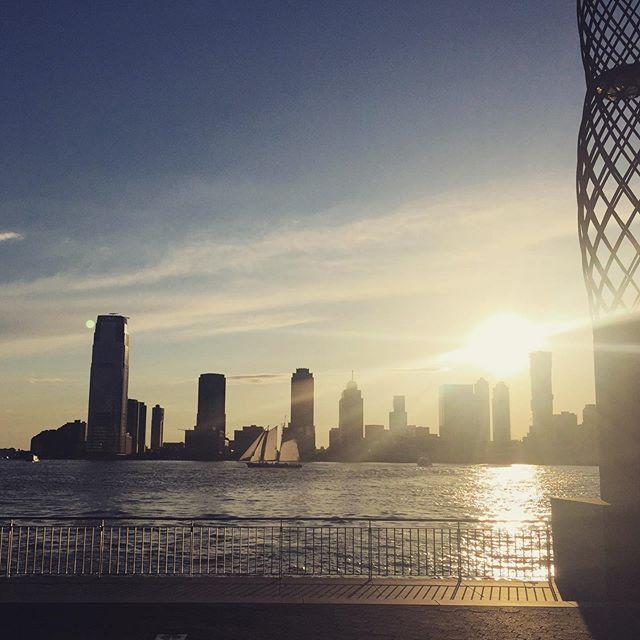 #bfplny #contest Summer sunsets over the Hudson never get old.