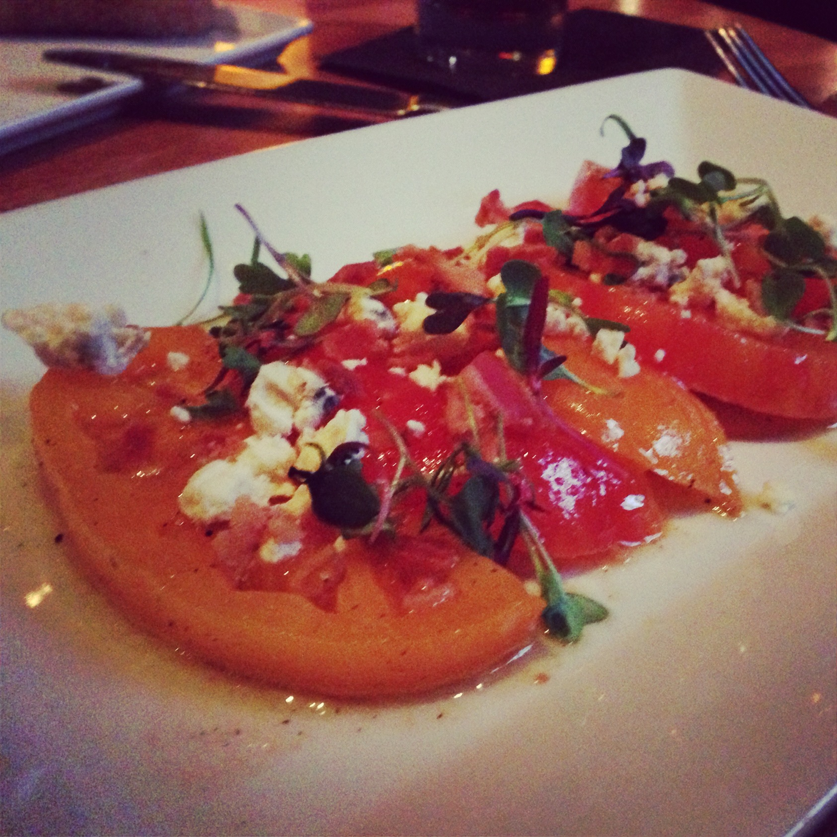 MESA Heirloom Tomato Salad with Blue Cheese