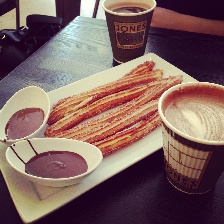 Amara Cafe Chocolate Churros and Mocha