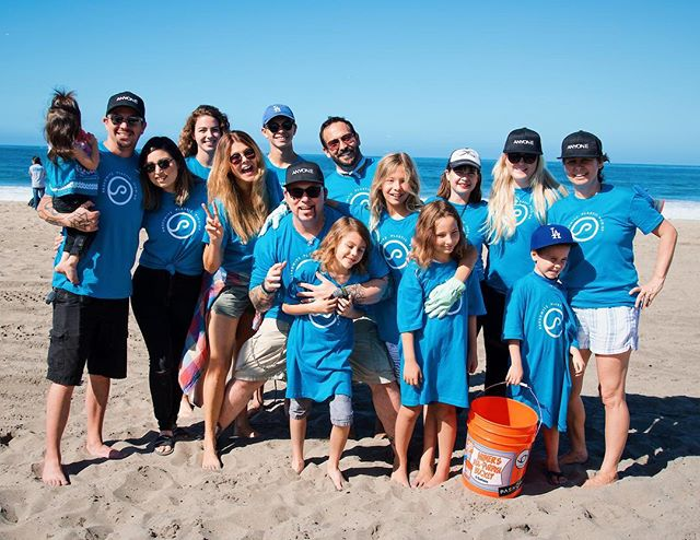 Great morning at the beach for our Plastic Pickup Day! @adampaskowitz and fam with our @weareanyone fam! We helped pick up 600+pounds of plastic today!! #proudofourteam #workwithgreatpeople #takecareofourplanet