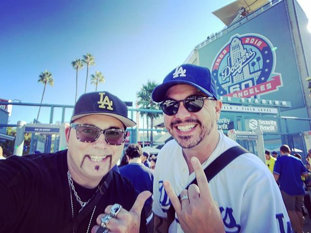 Let's go Dodgers!!! Can't believe I am at the World Series with @mfiore !! SO STOKED!! #itfdb #dodgers #worldseries #LAallday