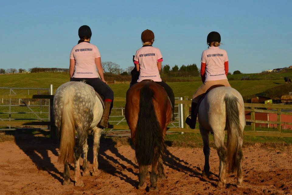 NTU girls showing support wearing their Rosie Carter pink t shirts