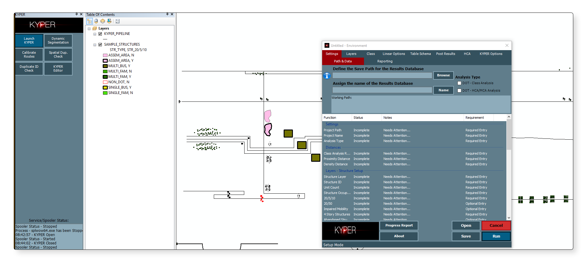 kyper class location hca automation analysis arcmap arcgis pipeline lightning blue sky evolution
