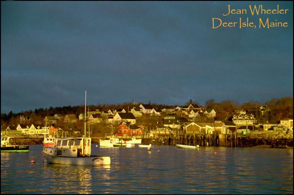 """Awakening"" – sunrise in Stonington Harbor"