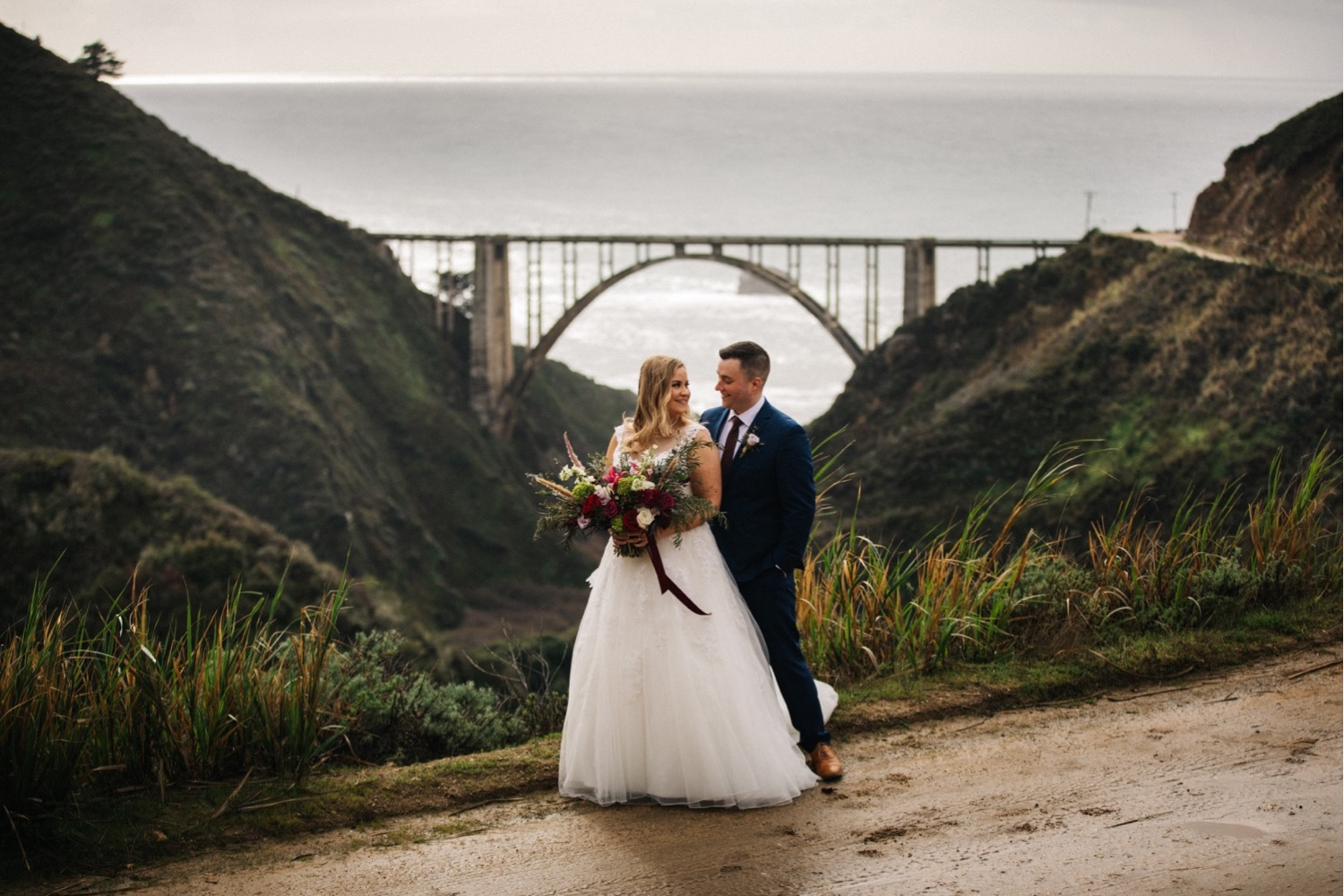 Featured: Bixby Bridge, made famous in my mind by The Bixby Canyon Bridge by Death Cab For Cutie. Very sad song, not wedding appropriate but I'm really into it.