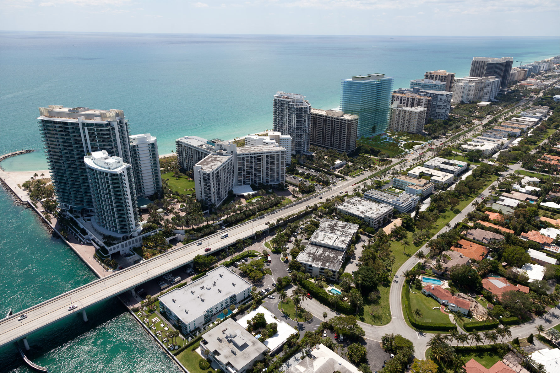Aerial NW view of Oceana at Bal Harbour