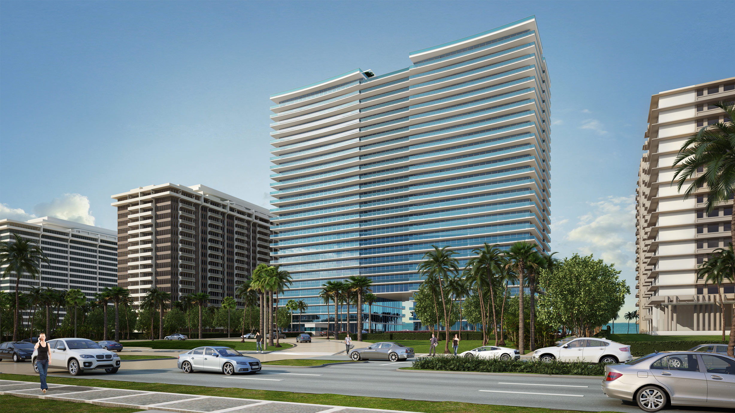 Street view of Oceana at Bal Harbour