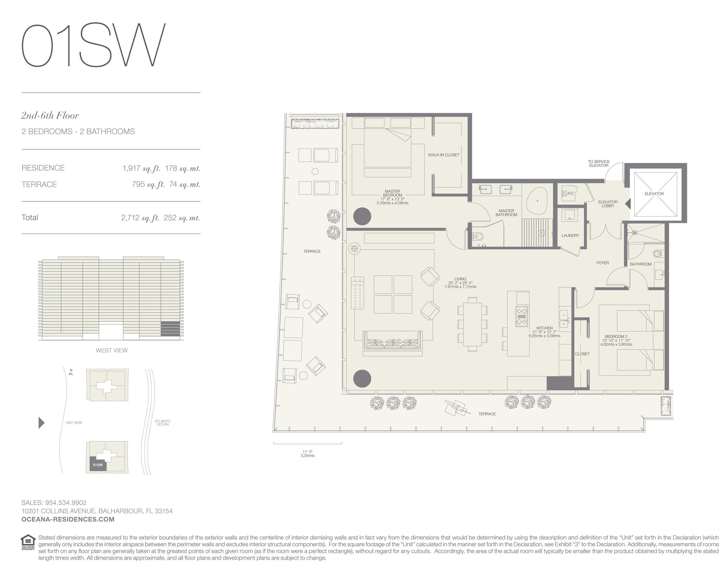 01 SW  2 Bed - 2 Bath