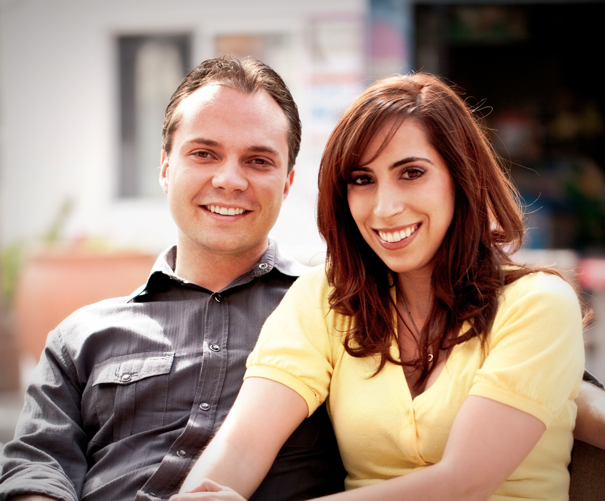 David and Adrianna May, owners of Pogona Creative