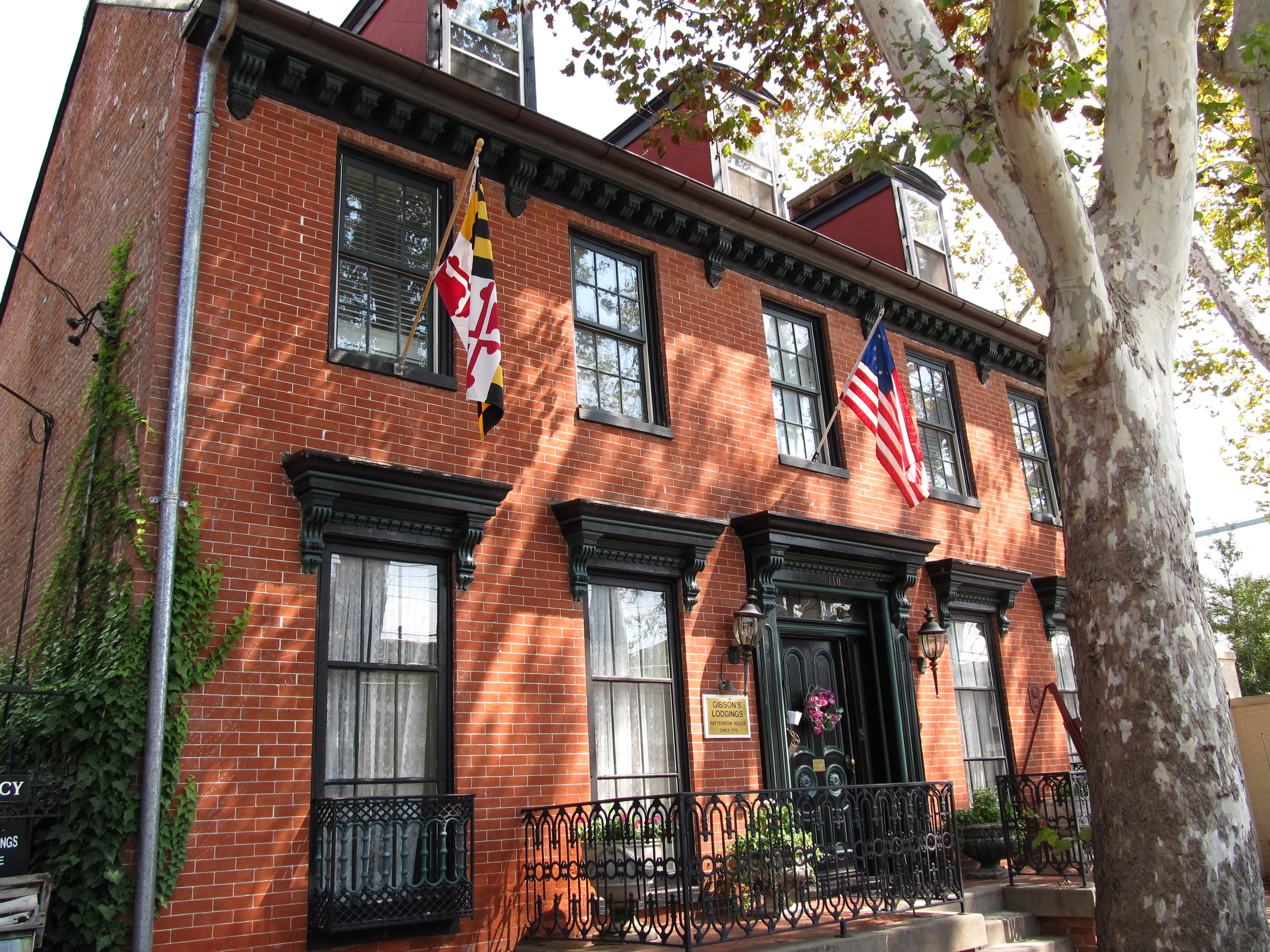 Gibson's Lodgings--Paterson House, 100 Prince George Street, Annapolis, Maryland.