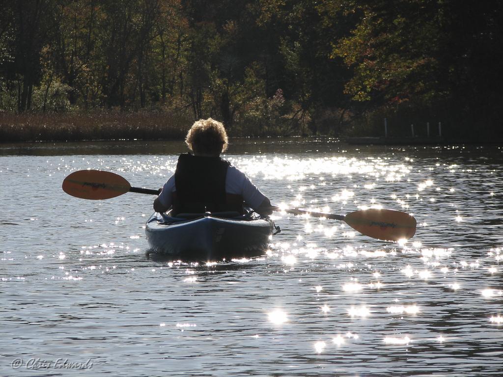 Ellie Kayaking © Christine Edwards