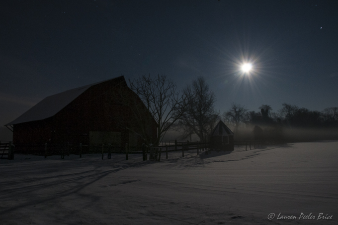 """""""The moon on the crest of the new-fallen snow..."""""""