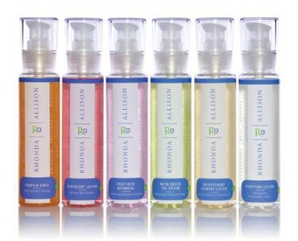 A selection of Rhonda Allison cleansers.