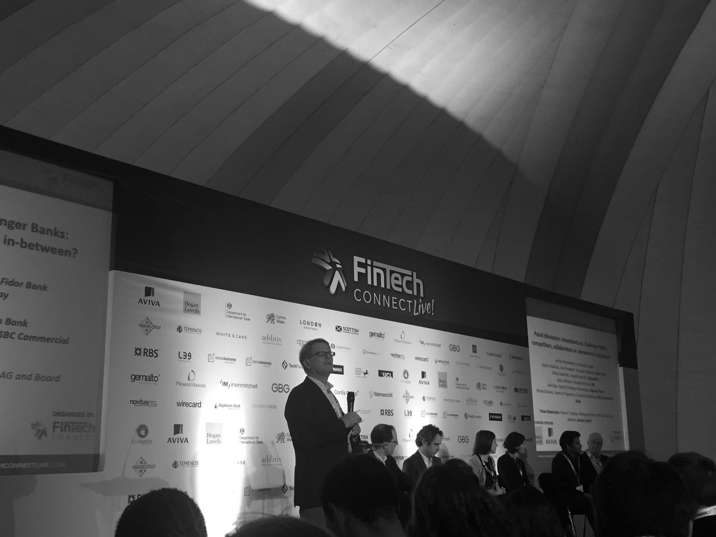 Pierrechaired a panel on challenger banks vs incumbents.