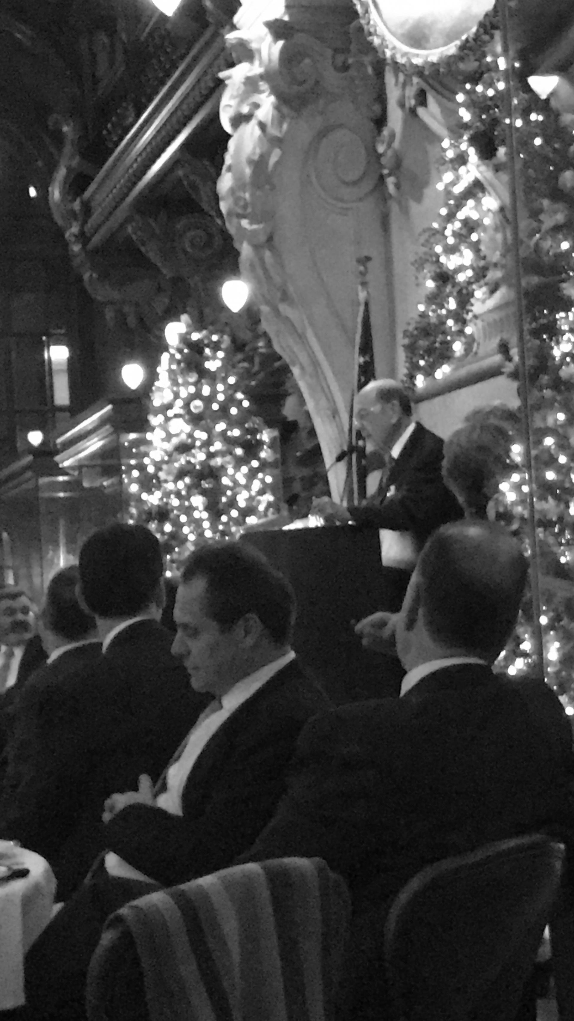 United States Secretary of Commerce Wilbur Ross gave a great dinner speech.