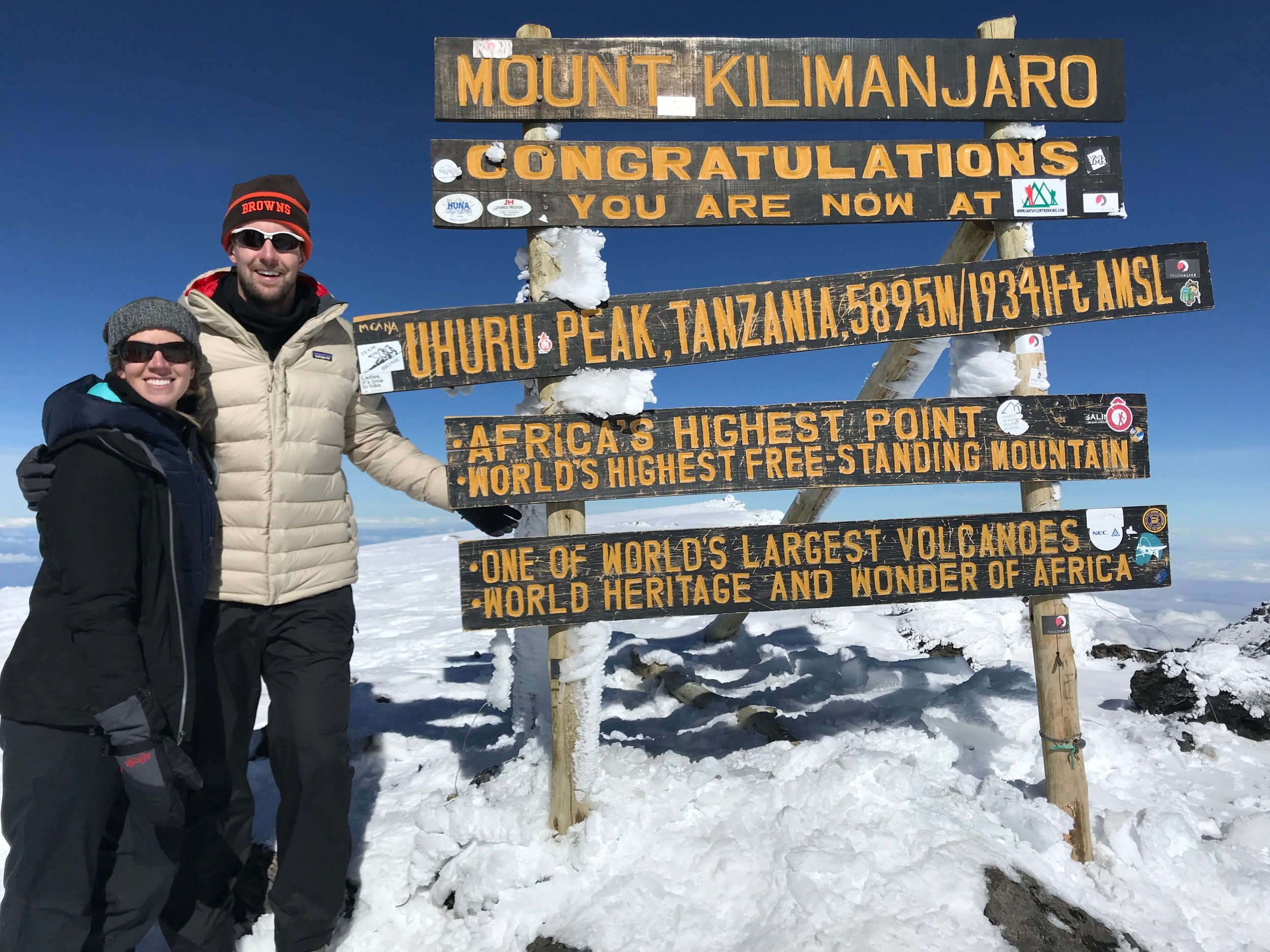 Kelsey + Matt Climb Kilimanjaro - In October 2018, we set out to climb Mount Kilimanjaro to fundraise for the Leukemia & Lymphoma Society. Together with a group of 19 other LLS Climb2Cure participants, we began our 8-day trek. We've compiled our favorite photos with the highlights of each day! Thank you all for your support as we trained and prepped for the trip, but more importantly, thank you for your generous support of the cause that is so important to us.