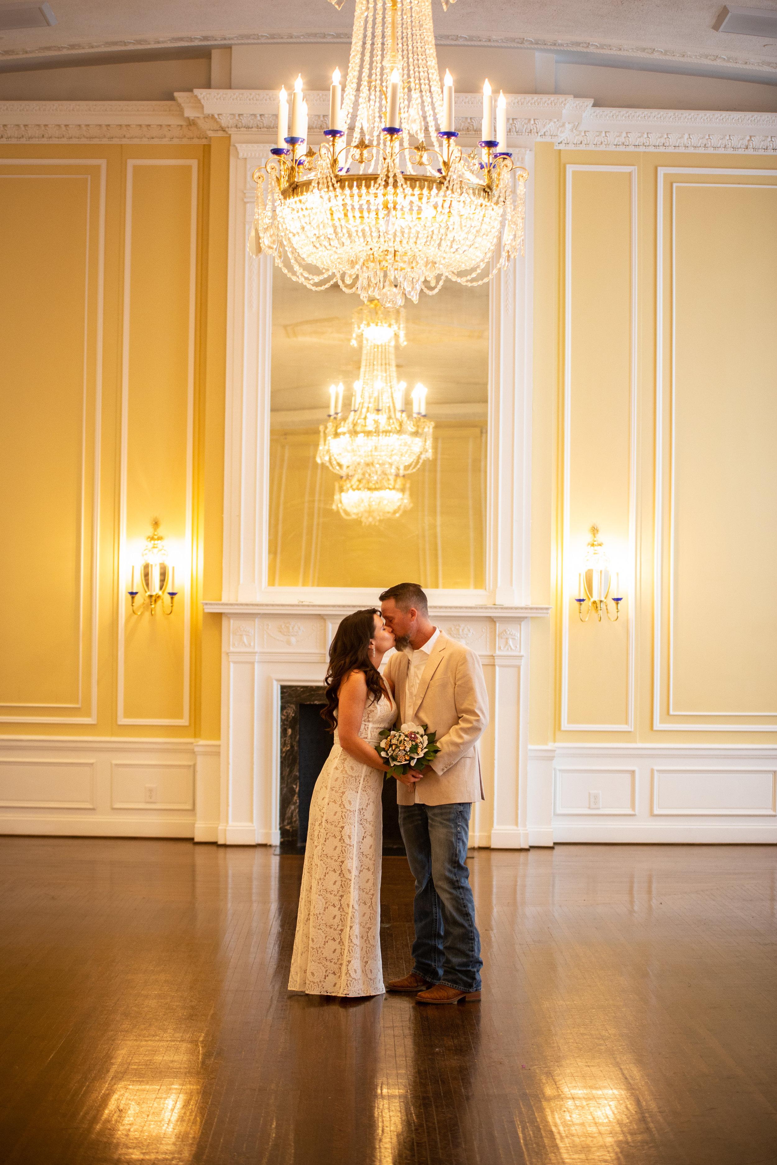Yellow-Ballroom-Roanoke-Patrick-Henry-Downtown-chandelier-mantle-wood-floors