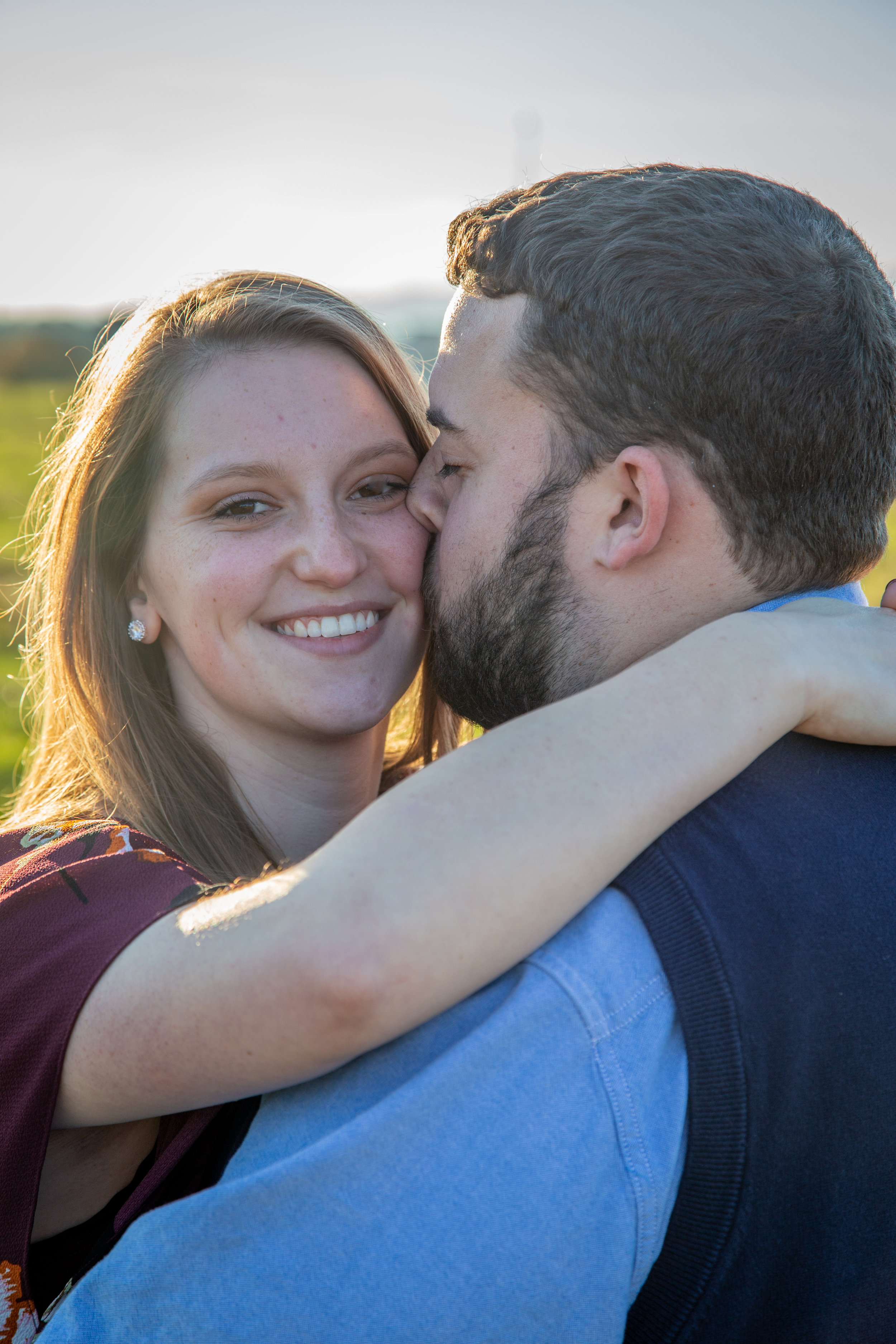 Sunset-Roanoke-shakers-field-flare-airport-love-together-virginia-photography-shoot-together-smiling