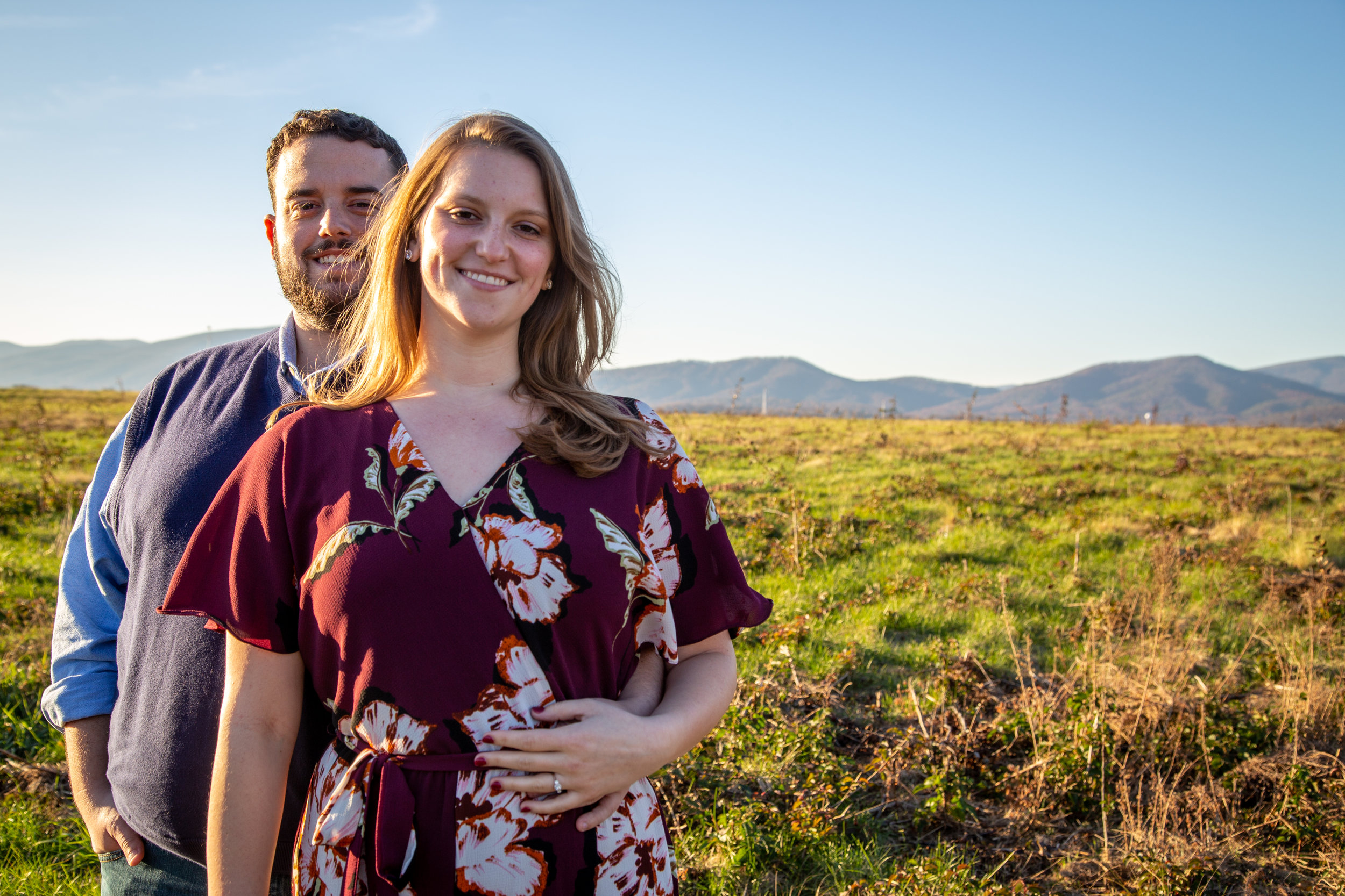 Sunset-Roanoke-shakers-field-flare-airport-love-together-virginia-photography-shoot-together