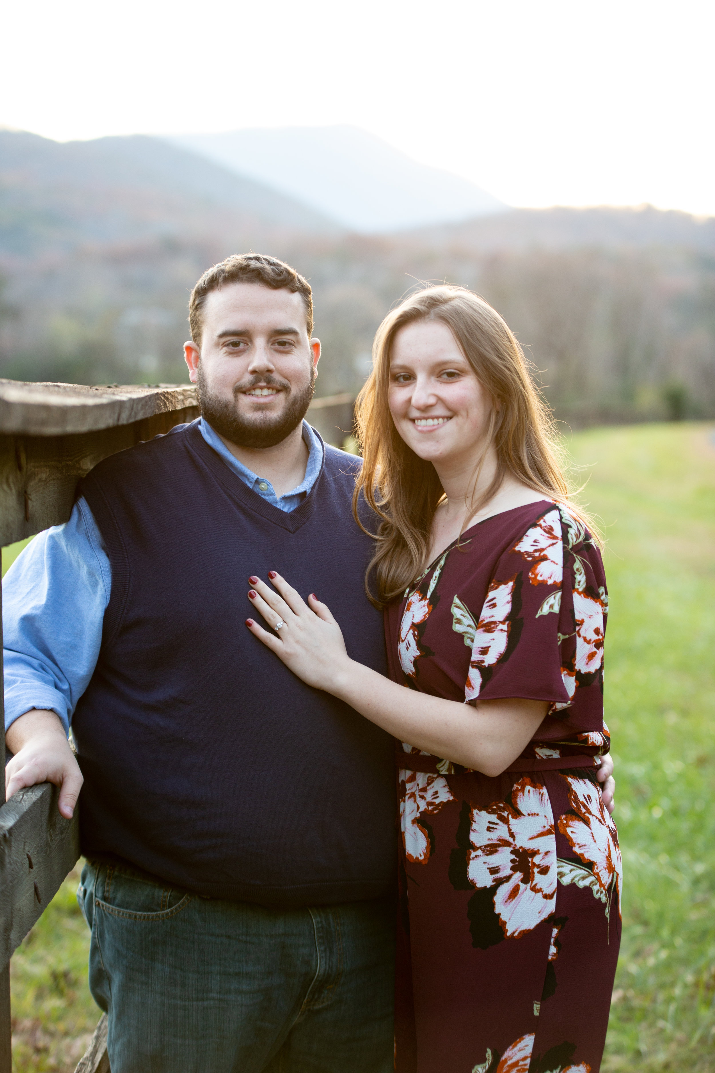 Blue-Ridge-Parkway-Fall-Sunset-couple-engaged-mountains-love-together-fence-roanoke-engaged-beauty-virginia-photography-nature-candid-outside