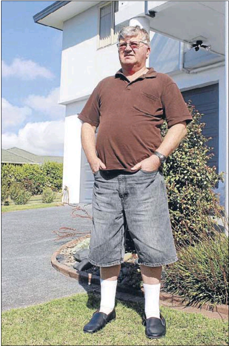 Sheer frustration:  Robin Molloy wants to downsize his house but leaky home battles prevent it.