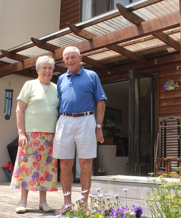 Bitter battle:  Bert and Mary Blincoe are determined to be upbeat after winning a six-year leaky house fight. Photo / Liz Wallis