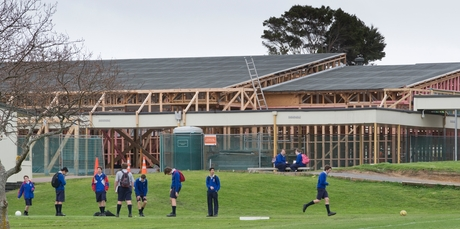 Extensive work continues on leaky buildings at Macleans College in East Auckland. Photo / Greg Bowker