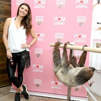 Ali+Landry+and+Lola+the+Sloth+at+POM+Wonderful+Sloth+Barre.jpg