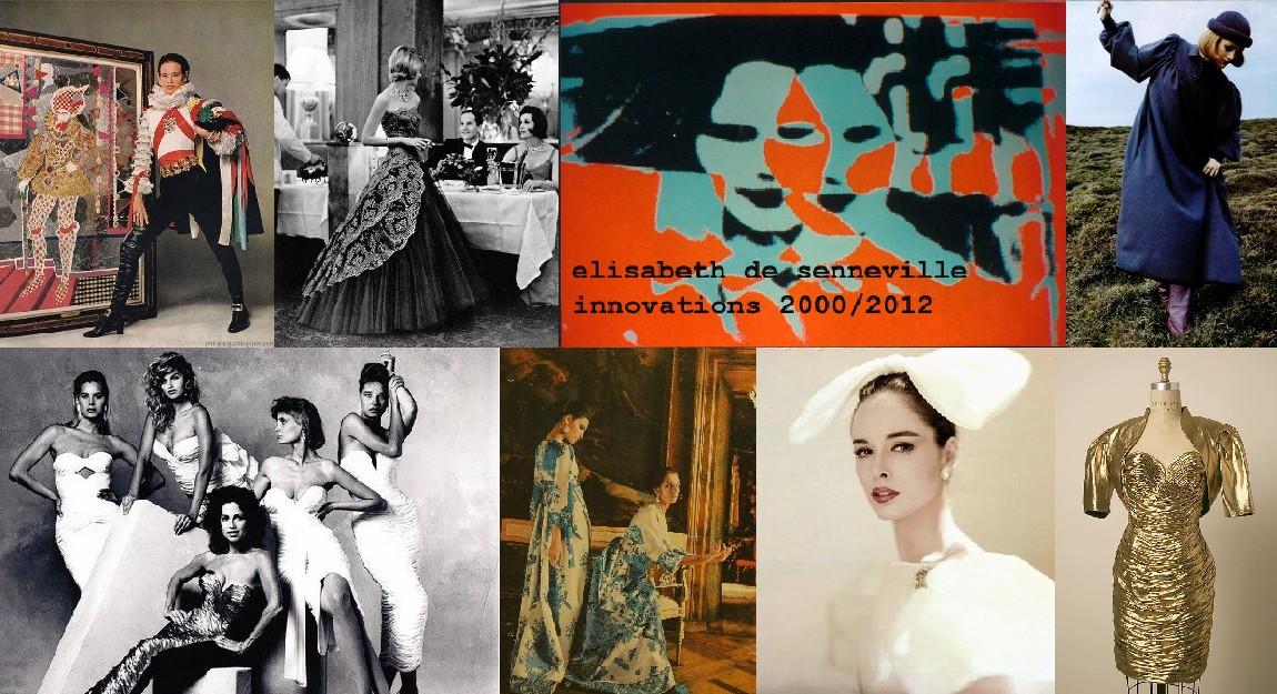 Top row: Adolfo, Carven, Elisabeth de Senneville, Dorothee Bis. Bottom row: Vicky Tiel, Valentino, Adolfo, Vicky Tiel