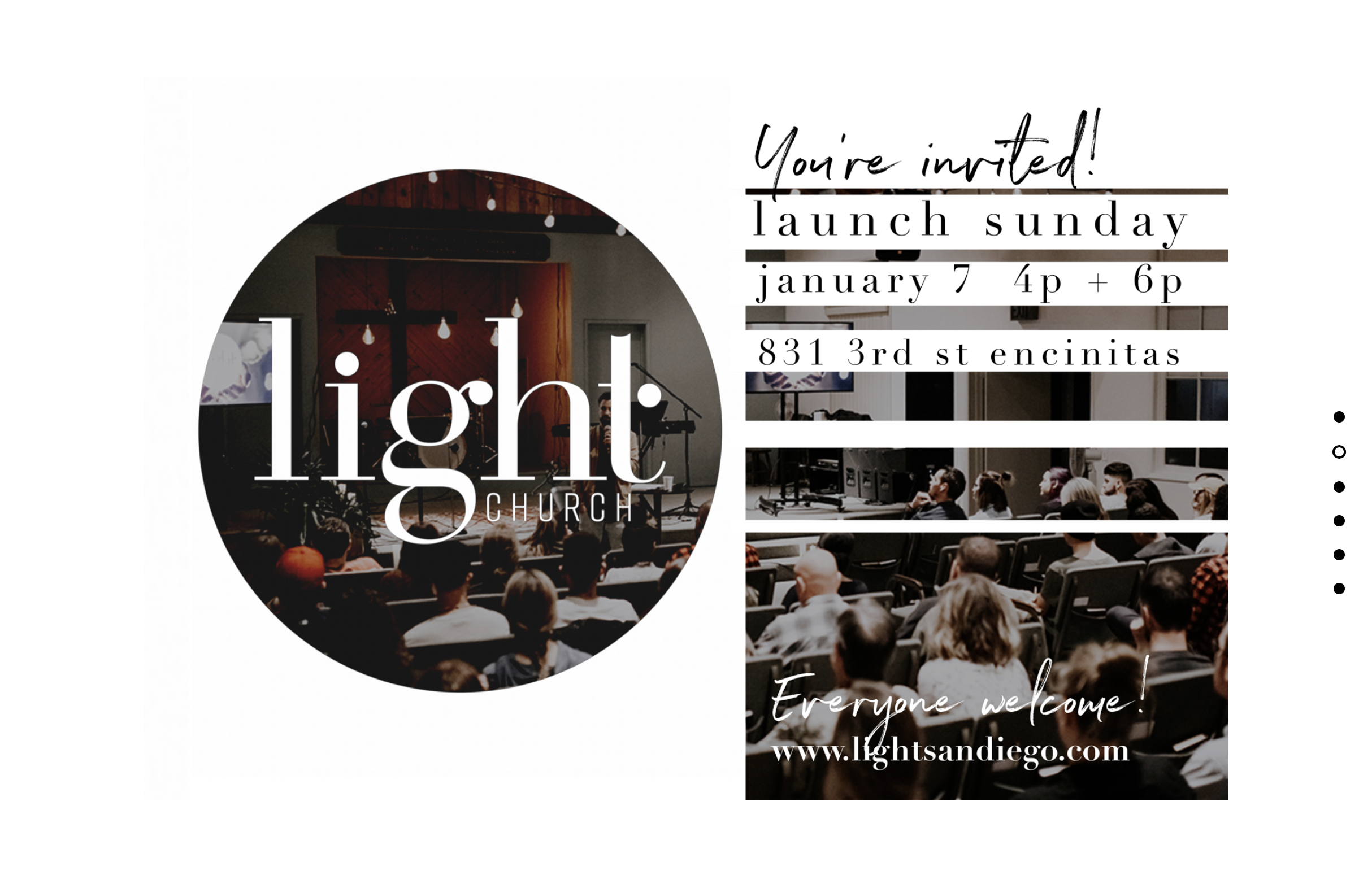 Worship with Light Church @ 2 PM today. Click here for directions .