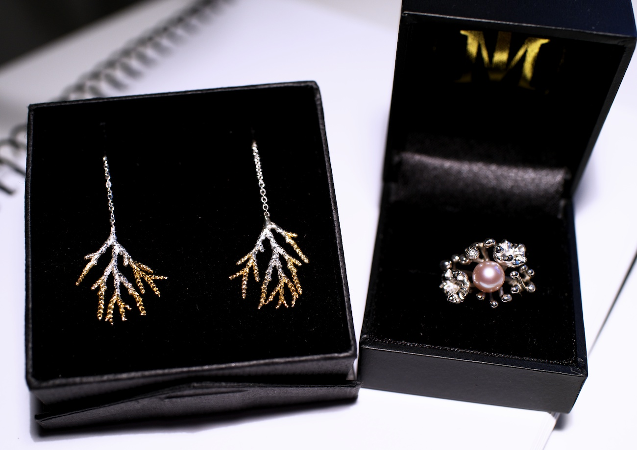 Matching ring and earrings set bought by one of my awesome new neighbours. Thanks Hisako!