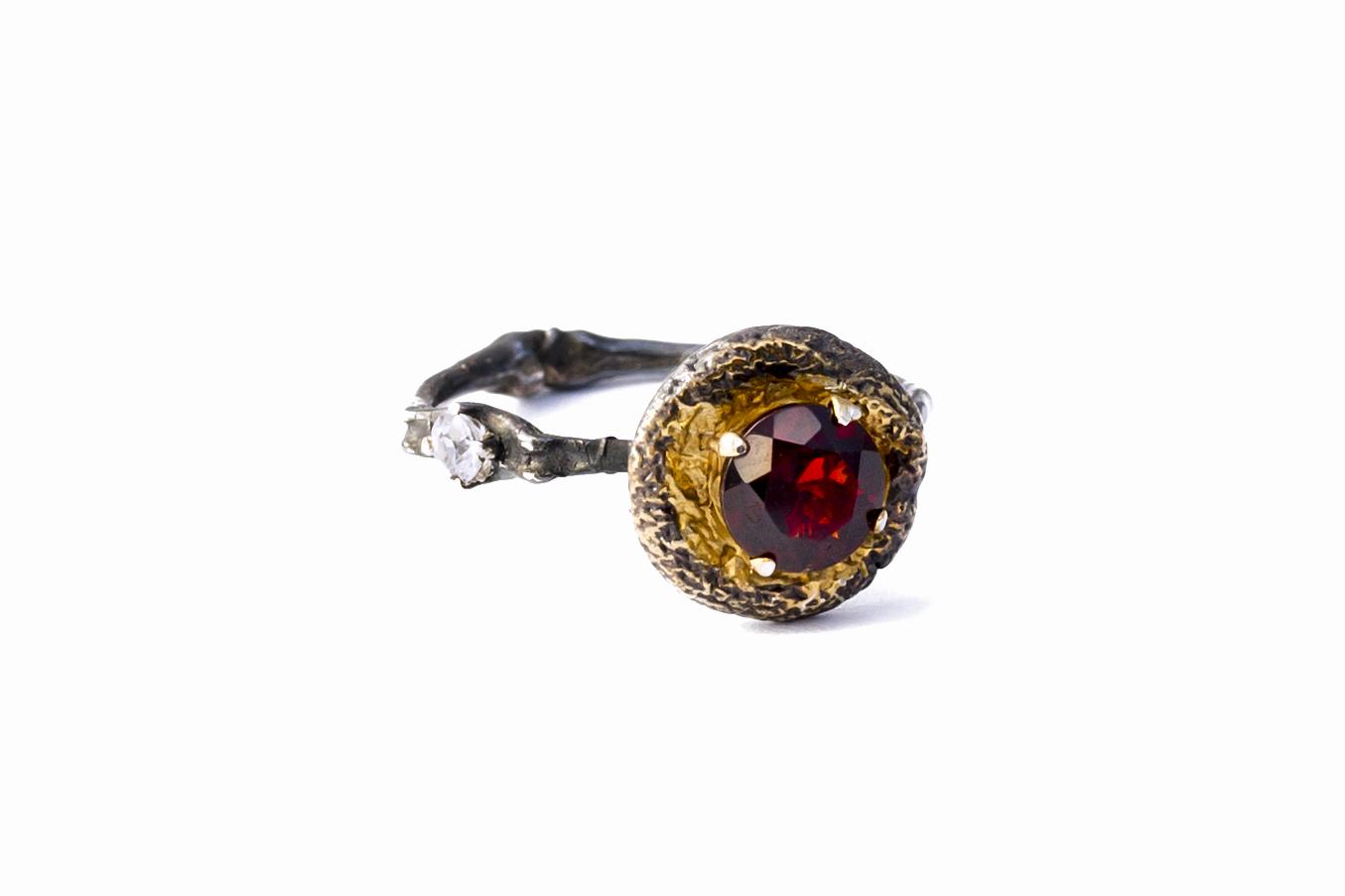 Luke Maninov Neuroscience jewelry jewellery surfacing vesicle ring