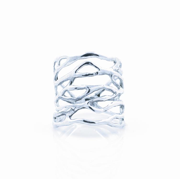 Cajal Ring, sterling silver